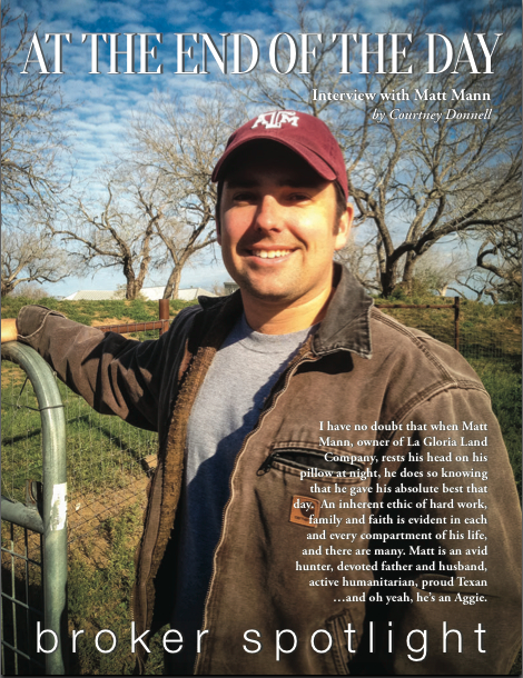 Matt Mann Texas Ranch Broker La Gloria Land Company